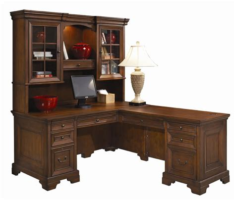 L Shaped Computer Desk And Return With Hutch By Aspenhome L Shaped Computer Desk Hutch