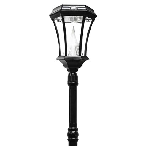 Gama Sonic Victorian Solar Powered L Post Solar Solar Light Post