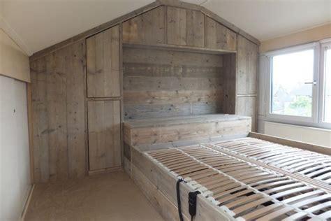 zelf inloopkast maken steigerhout steigerhouten in slaapkamer kast steigerhoutbestel nl