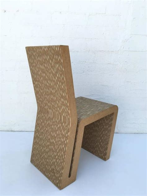 frank gehry cardboard chair easy edges cardboard side chair by frank gehry for sale at
