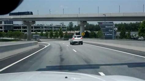 arriving  atlanta airport car rental center youtube
