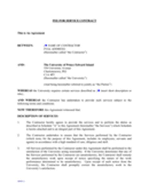 service contract template download free documents for