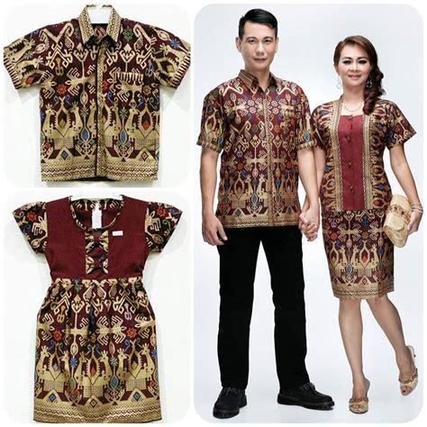 Setelan Baju Tenun Blanket Motif Kera koleksi trend model baju batik sarimbit keluarga terbaru pusat batik terbaru