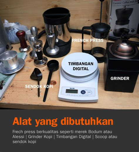 Alat Coffee Press press cikopi