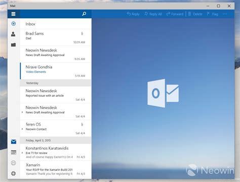 Calendrier Windows 10 Windows 10 Desktop Les Apps Courrier Et Calendrier