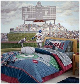 this baseball bedding never strikes out the baseball