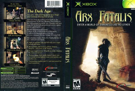arx fatalis cover microsoft xbox covers the iso zone
