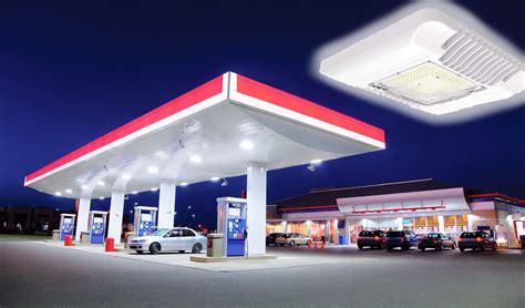 gas station canopy lights led canopy light go led lighting