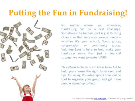 Kid Friendly Fundraising Ideas From A To Z