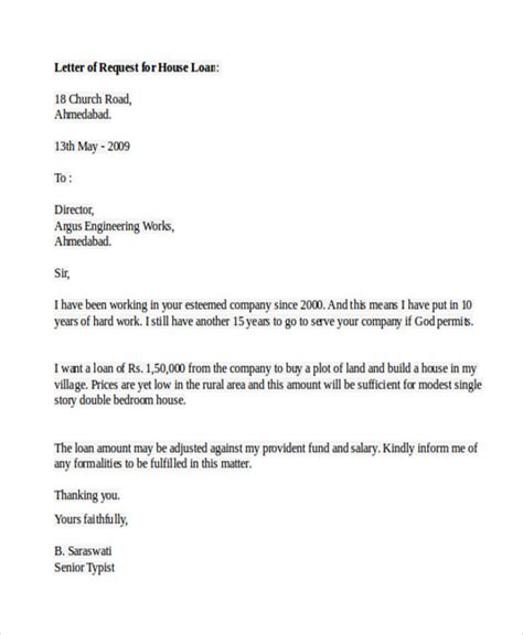 Letter Template To Mortgage Company sle loan application letters 15 free sle exle