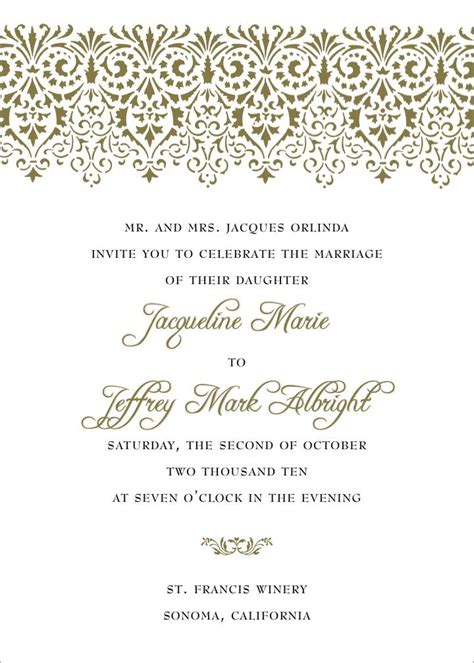 Wedding Invitation Format