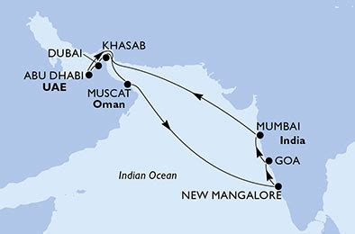 cruise dubai, abu dhabi & india, msc lirica, 01 march 2019