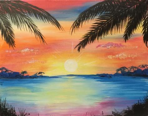 bob ross painting classes indiana 2 00 pm tropical sunset 08 05 2017 mimosa and a masterpiece