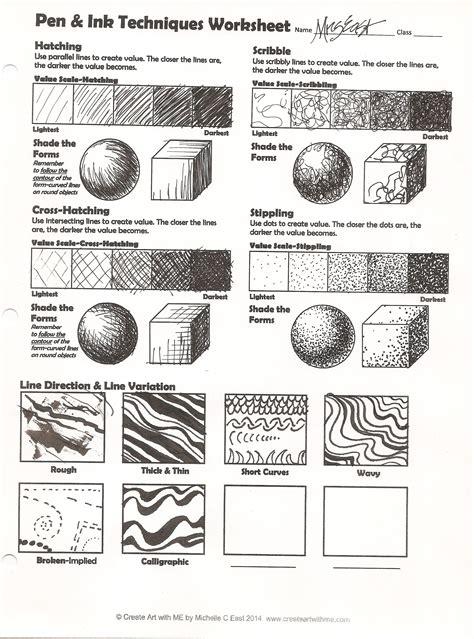Thinking Blocks By Destyle Shop pen ink techniques lesson plan worksheet create