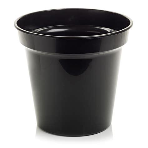 wilko plastic plant pot black 32cm at wilko com