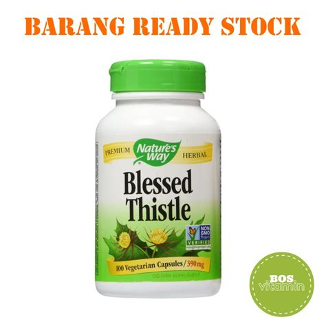 Ready Stock Kapsul Srigading jual nature s way blessed thistle 100 kapsul bos vitamin