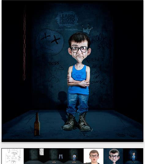 tutorial photo editing using photoshop create a cartoon character in photoshop