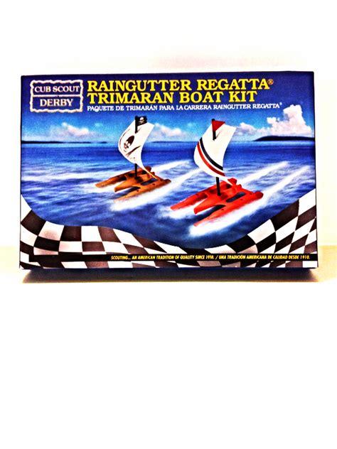 trimaran kit boat cub scout derby official raingutter regatta racing