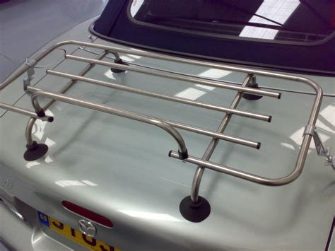 Luggage Rack Car by Car Boot Luggage Racks Stainless Steel Chrome And Black