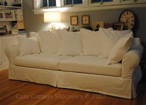 slipcovers for attached pillow back sofa cozy cottage slipcovers pillow back sofa slipcover