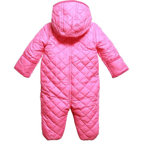 Quilted Snowsuit For Baby by Ralph Baby Pink Quilted Snowsuit Children