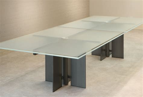 white glass conference table stoneline designs