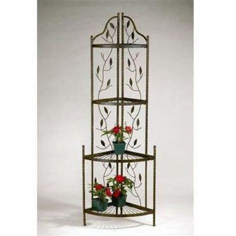 deer park ironworks vine and leaf corner rack cr114