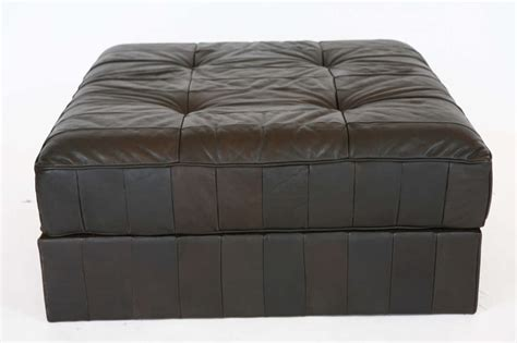 Leather Patchwork Ottoman - large leather patchwork ottoman by de sede at 1stdibs