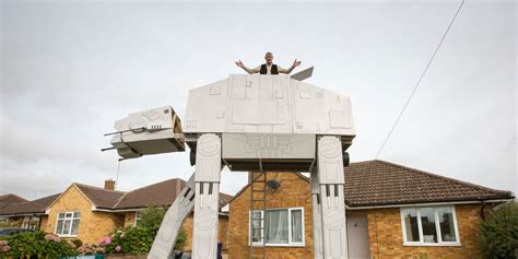 star wars house man builds life size star wars at at in front garden for