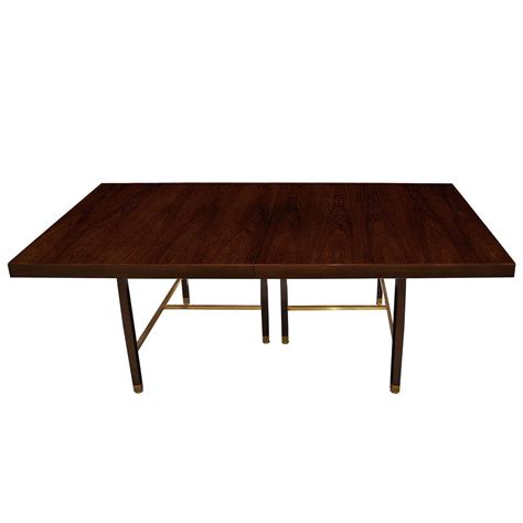 Rosewood Dining Tables Rosewood And Brass Dining Table By Harvey Probber Dining Room Tables Table Inventory