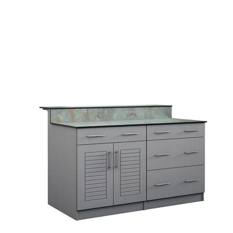 Outdoor Bar Cabinet Doors Weatherstrong Palm 59 5 In Outdoor Bar Cabinets With Countertop 4 Door And 2 Drawer In