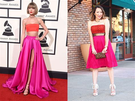 taylor swift 2016 grammys pink dress taylor swift s 2016 grammy red carpet look to irl