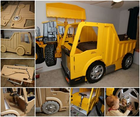 dump truck bed diy tractor bunk bed for boys