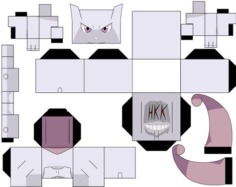 Mewtwo Papercraft - mewtwo by hollowkingking on deviantart