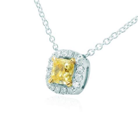 half carat canary yellow pendant