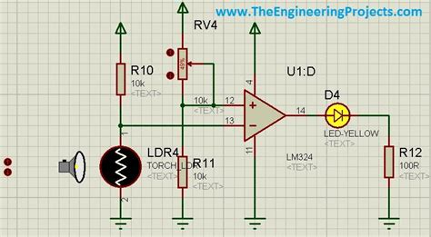 how to use ldr sensor in proteus the engineering projects