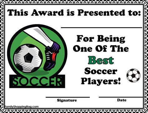 8 best certificate images on pinterest soccer party award