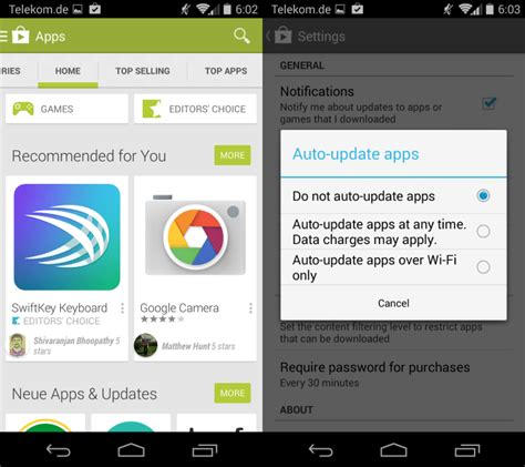 updates for android how to prevent automatic application updates on android ghacks tech news