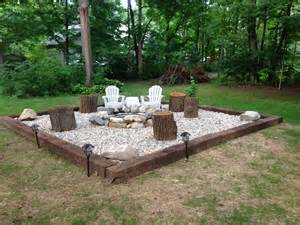 Firepit In Backyard Inspiration For Backyard Pit Designs Pit Area Ring And Rivers