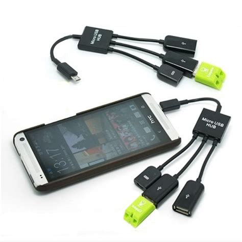 New Micro Usb Otg Hub Adapter Dengan Charging Switch 3 in 1 micro usb to dual usb and micro usb port adapter otg cable usb hub black alex nld
