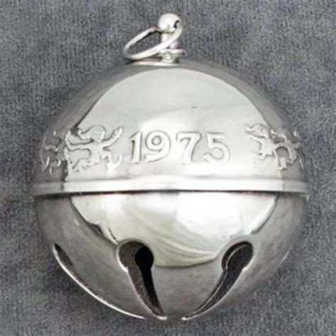 wallace silver bell 2018 1975 wallace sleigh bell silverplate ornament sterling collectables
