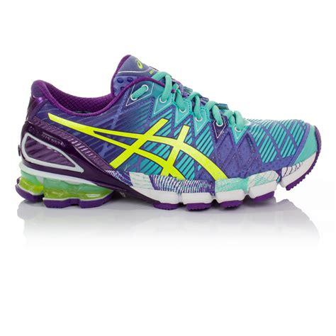 chs sports womens shoes asics gel kinsei 5 womens green purple cushioned running