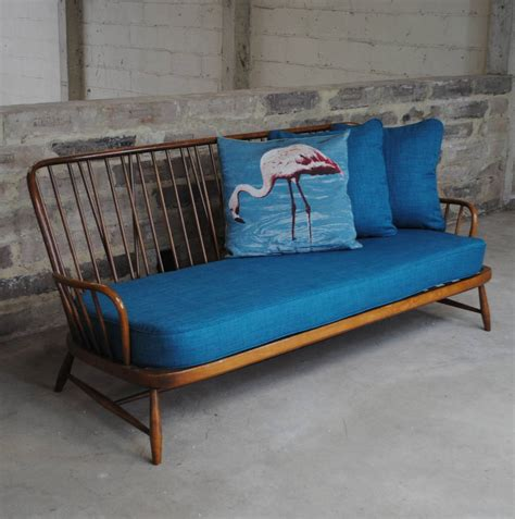 Vintage Ercol Jubilee Sofa In Teal By Iamia