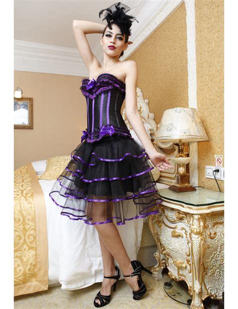 Dress Hp 5319 wholesale pretty in purple burlesque corset petticoat