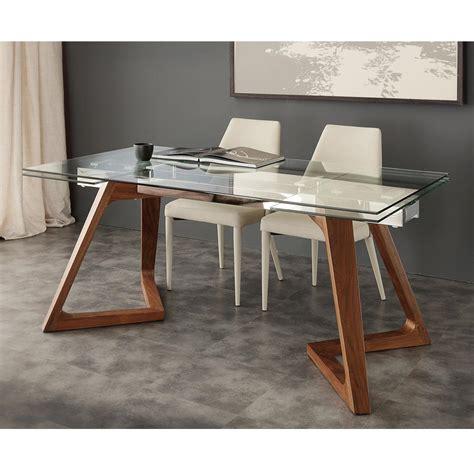 tavolo in vetro temperato tavolo allungabile di design con piano in vetro temperato