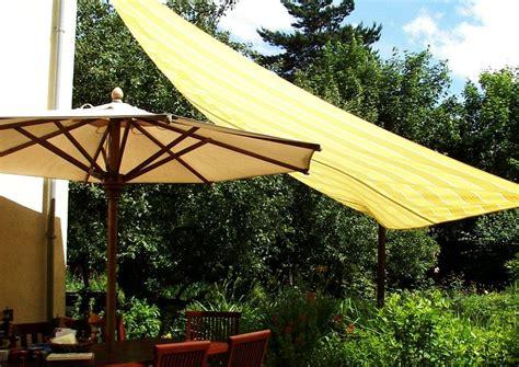 markisen regenfest einfaches sonnensegel an der hausterrasse zur beschattung