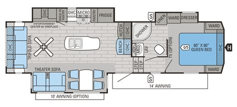 fifth wheel cer floor plans 2016 eagle fifth wheel floorplans prices jayco inc