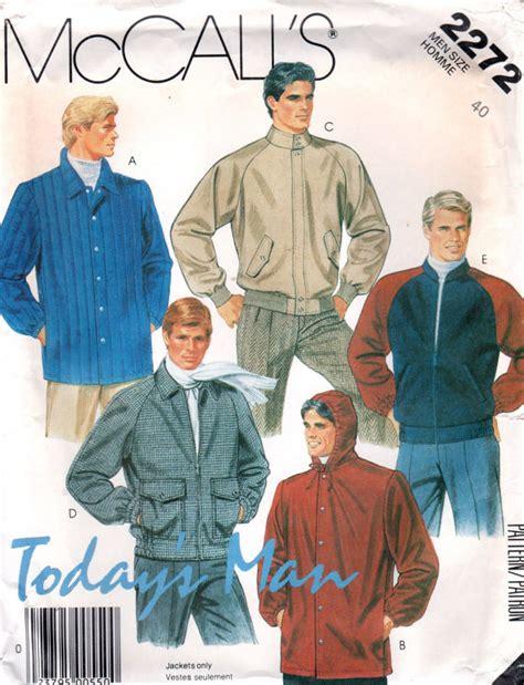 pattern recognition bomber jacket mccalls 2272 1980s todays man mens jacket pattern bomber