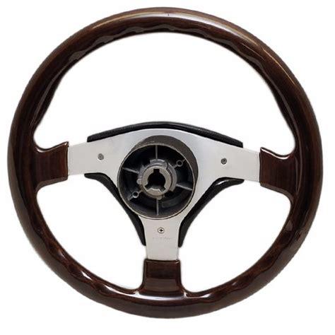 dino boat steering wheel dino 13 3 4 inch 3 spoke cherry wood grain aluminum boat