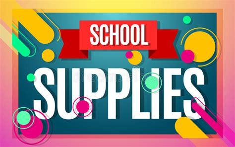 school supplies template vector free school supplies sale vector banner stock vector image